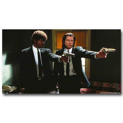 Pulp Fiction Movie Silk Poster 13x24inch Vincent Vega and Jules Winnfield 009