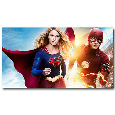 Supergirl and The Flash Superheroes New TV Series Silk Poster 13x24 inch 008
