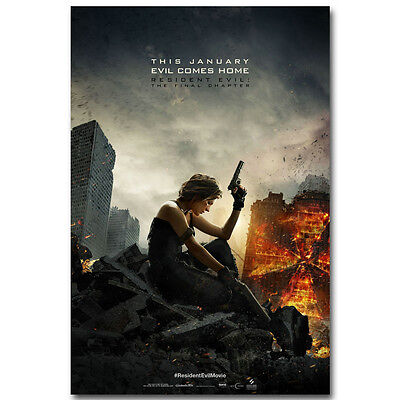 Resident Evil The Final Chapter Movie Silk Poster 13x20 inch Wall Decor 002