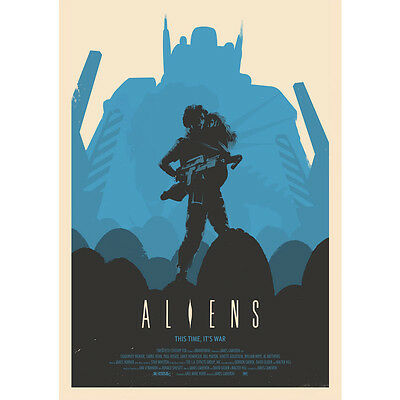 Hot Gift Poster Aliens 1986 Classic Movie 40x27 30x20 36x24 F-2075