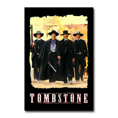 New Tombstone Fighting Movie Art Silk Canvas Poster 13x20 24x36 inch