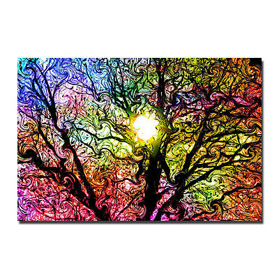 Trippy Tree Psychedelic Poster Art Silk Abstract Poster 13x20 32x48inch J258