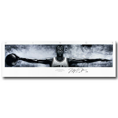 Michael Jordan Wings Basketball Silk Poster 13x44 20x68 inch 059