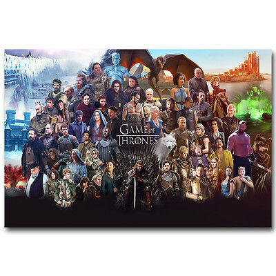 Game Of Thrones Season 6 TV Series New Art Silk Poster 13x20 24x36 inch