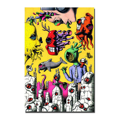 Trippy Psychedelic Poster Wall Art Silk Abstract Poster 13x20 24x36 inch J253