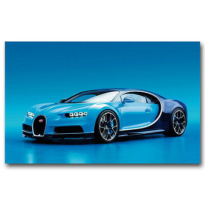 Super Racing Car - Bugatti Chiron Art Silk Poster 13x20 24x36inch J231