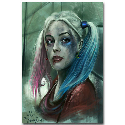 """Harley Quinn - Suicide Squad Superheroes Movie Silk Poster 13x20 24x36"""" 089"""