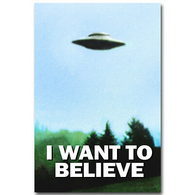 I Want To Believe - The X Files TV Series Silk Poster Print Home Wall Decor UFO