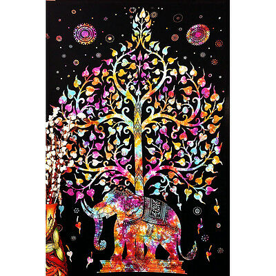 Psychedelic Trippy Abstract Art Silk Poster 13x20 24x36 inch Elephant Tree