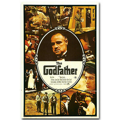 The Godfather Classic Film Movie Silk Poster 13x20 24x36 inch
