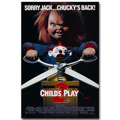 CHILDS PLAY 2 Classic Horror Movie Silk Poster 13x20 24x36 inch
