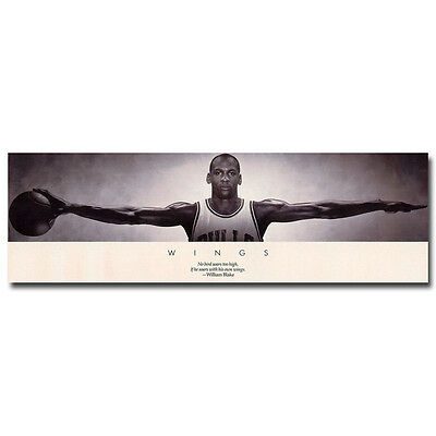 Michael Jordan Wings Super Basketball Star Art Silk Poster 20x64 inch
