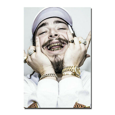 Post Malone Poster Silk Rap HipHop Music Gold Star Poster 13x20 24x36inch J350