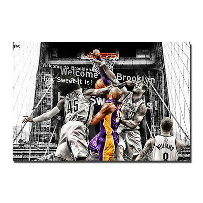 Basketball Star Kobe Bryant No.24 Lakers Art Silk Poster 13x20 24x36inch J337
