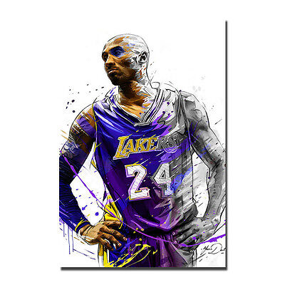 Basketball Star Kobe Bryant No.24 Lakers Art Silk Poster 13x20 32x48inch J368