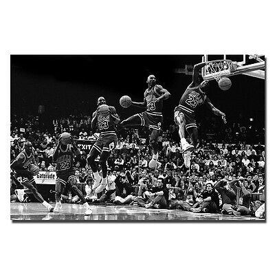Michael Jordan - MJ 23 Chicago Bulls MVP Basketball Silk Poster  13x20'' J73