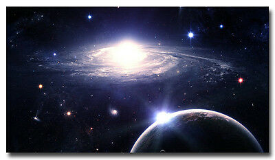 "Outer Space Nasa Universe Galaxy Art Silk Poster 13x24 24X43"" Star Planet"