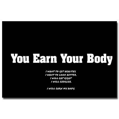 "Bodybuilding Fitness Motivational Quotes Art Silk Poster 13x20"" 24x36"" 095"