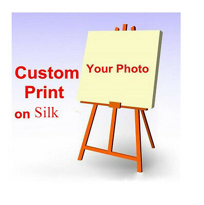 "Silk Fabric Poster Customized 13x20"" 24x36"" 32x48"" Custom Your Photo"