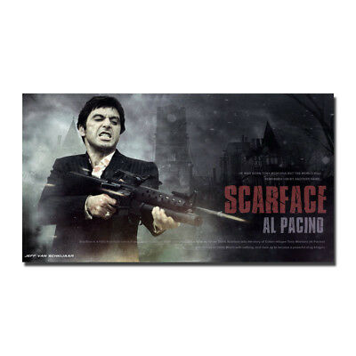 Al Pacino Tony Montana Scarface 1983 Movie Wall Silk Poster 13x24 inch