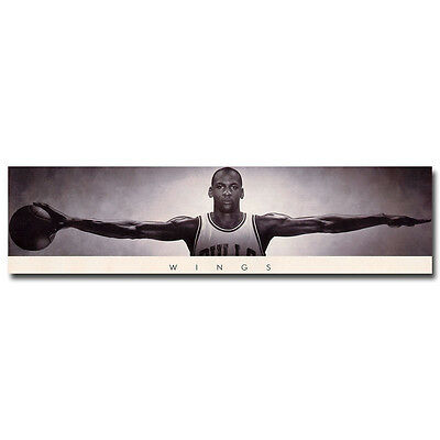 Michael Jordan Wings with Basketball Silk Poster 13x50 20x77 inches