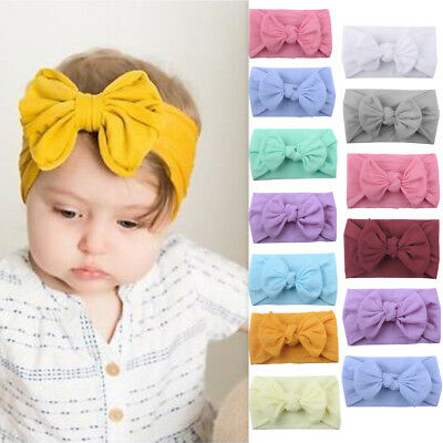 Kids Girl Boy Baby Toddler Big Bow Knot Headband Hair Band Headwear Head Wrap