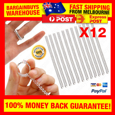 12pcs Ring Size Adjuster Ring Jewelry Tightener Size Reducer Resizing Tool