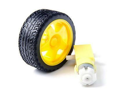 smart Car Robot Plastic Tire Wheel with DC 3-6v Gear Motor Hot And TPI PR