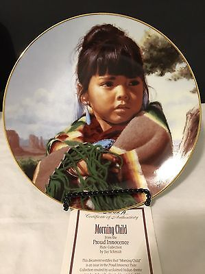 """Proud Innocence """"Morning Child"""" Collector Plate 23K Gold Border"""