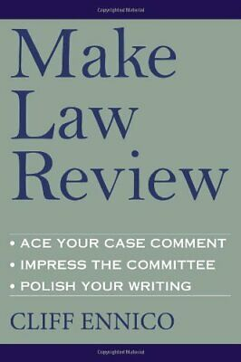 Make Law Review by Ennico, Cliff Paperback Book The Cheap Fast Free Post