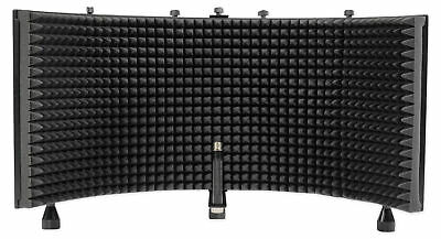 Rockville ROCKSHIELD 3 Large Studio Mic Isolation Shield w/Sound Dampening Foam