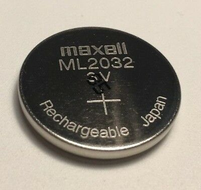 Maxell ML2032 Battery Rechargeable Lithium Cell 3V  (Logitech K750 battery)