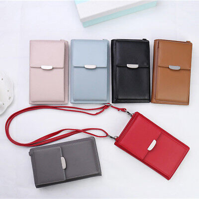 NEW Women Phone Wallet Card Holders Handbag Clutch Messenger Shoulder Straps Bag