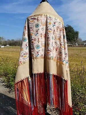 Sacred Sand, Native American Style Shawl,Prayer,Meditation,Regalia, 14in Fringe