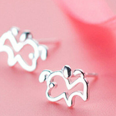Exqusite Hollow Out Lovely Mini Dog Shape Earrings Accessories Gifts LG