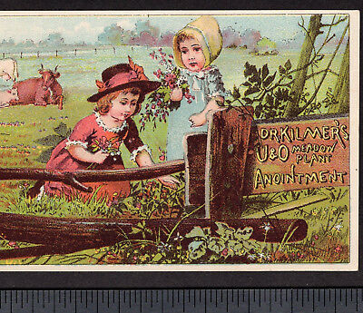 Dr Kilmers U & O Meadow Plant Cure-All 1800's Victorian Advertising Trade Card