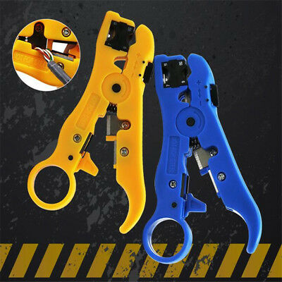 Universal Rotary Coax Coaxial Cable Wire Cutter Stripping Tool Stripper LG