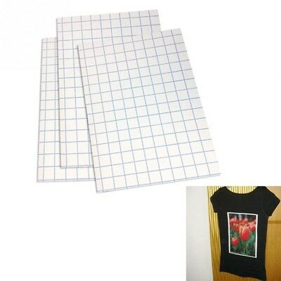 10Packs T Shirt A4 Iron On Heat Transfer Paper For Inkjet Dark Color Fabrics