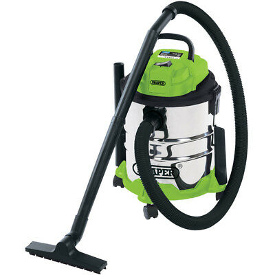 Draper 20L Wet And Dry 1250w Vacuum Cleaner stainless steel industrial