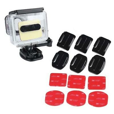 Durable 12pcs Camera Helmet Flat Curved Adhesive Mount For  Hero 1/2/3+ .UP