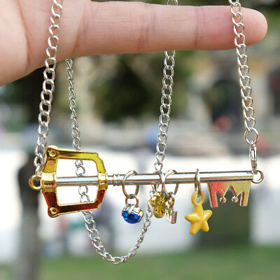 game kingdom hearts keyblade metal pendant necklace chain gift