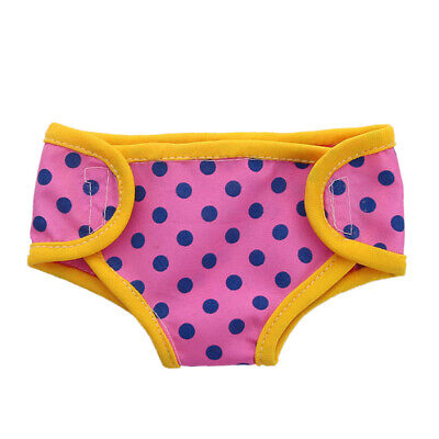 Adorable Baby Doll Dotted Diapers Underwear for AG American Doll 18'' Doll Accs