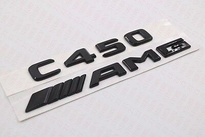 "Gloss Black /"" C450 AMG BITURBO //////AMG /"" Number Emblem Sticker for Mercedes-Benz"