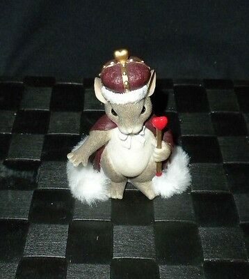 """Fitz & Floyd Charming Tails """"King of My Heart"""" Valentine Figurine #84/113"""
