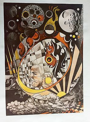 Amazing Original Vintage Art Siegfried Reinhardt Limited Edition Lithograph