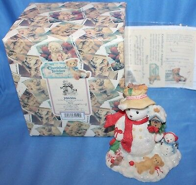 Cherished Teddies Merry In The Meadow We Can Build Figurine # 706906 2000 Enesco