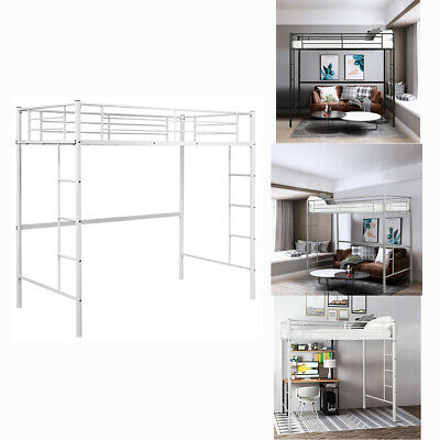 3FT Single Loft Bed High Sleeper Twin Cabin Bed Metal Bunk Bed Frame Day Bed
