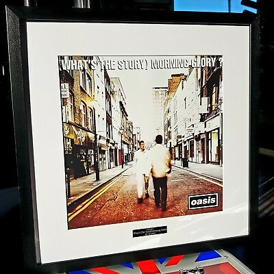Oasis What's The Story Morning Glory Framed Album Cover-Print-Liam Gallagher
