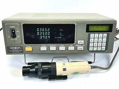 Konica Minolta CA-210 LCD TFT Color Analyzer CA-PU12 (PU12/15) Probe, CA210