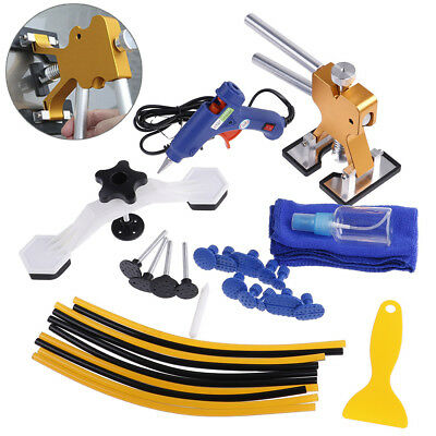 32Pcs Pdr Car Body Paintless Dent Repair Removal Glue Gun Tool Puller Lifter MEV